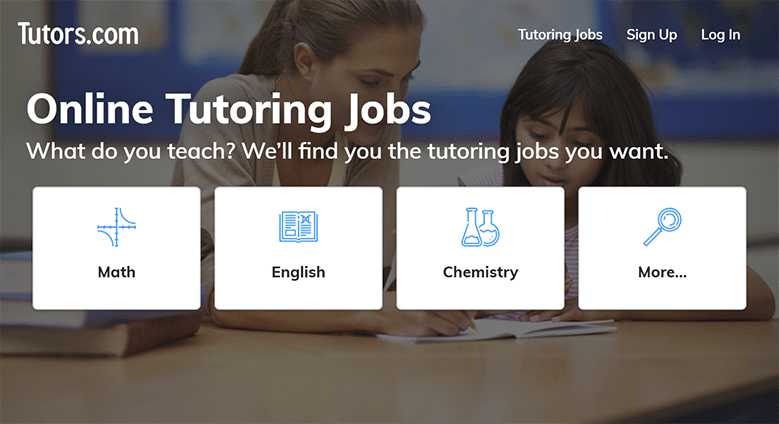 Tutors.com Homepage