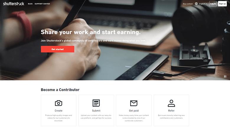 Shutterstock Homepage